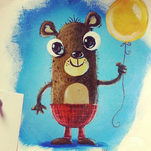 Cute Bear painting