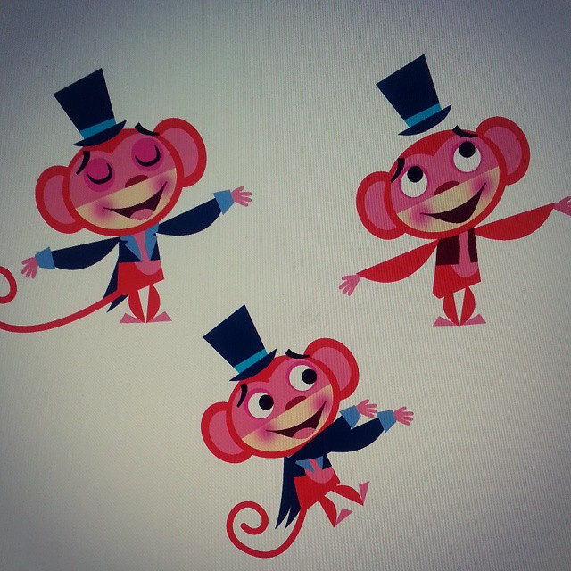Big Top Monkey Character