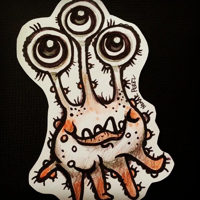 Fun doodle alien