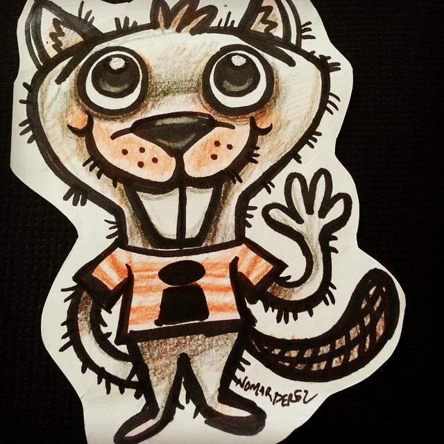 Fun doodle beaver