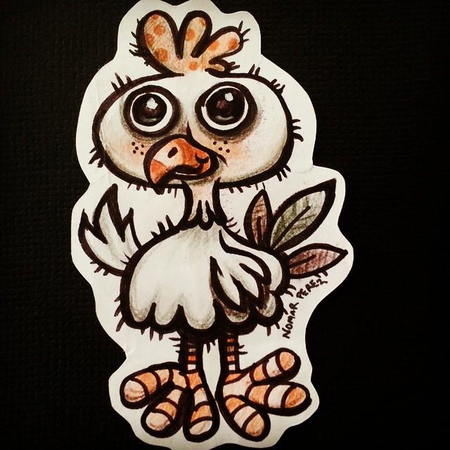 Fun doodle chicken