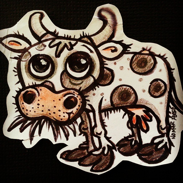 Fun doodle cow
