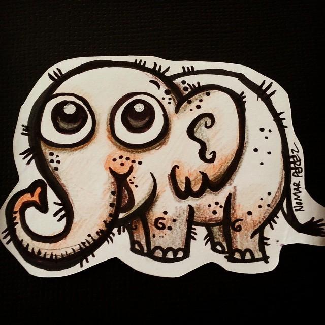Fun doodle elephant