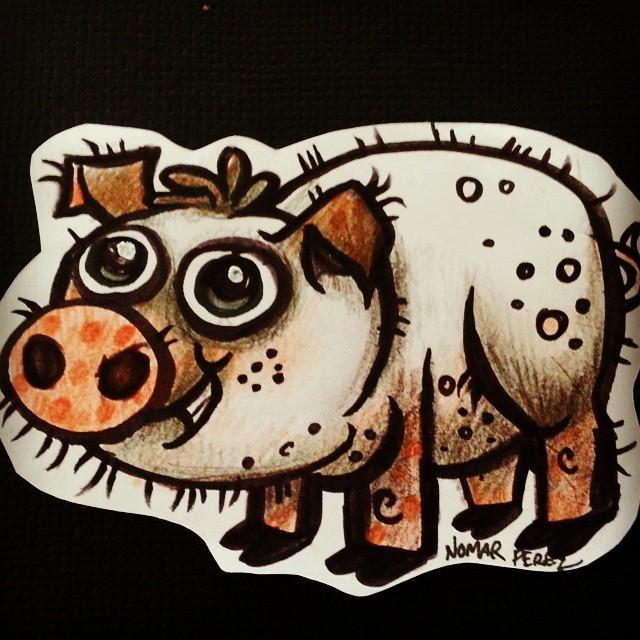 Fun doodle pig