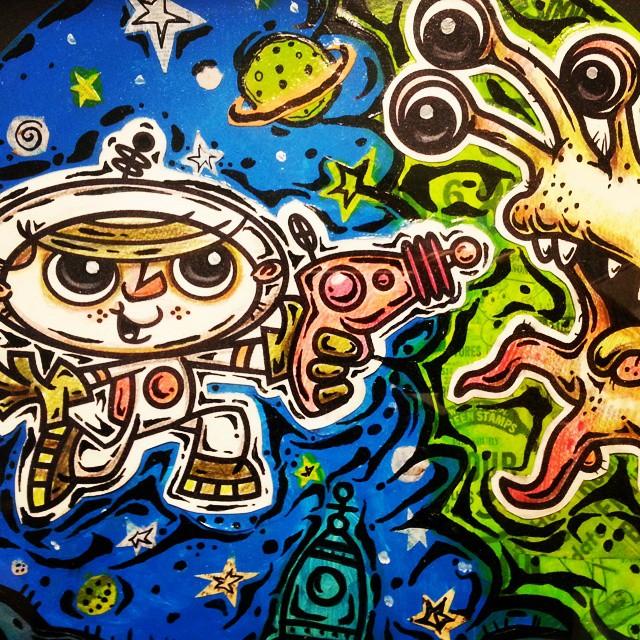 Spaceboy vs Alien