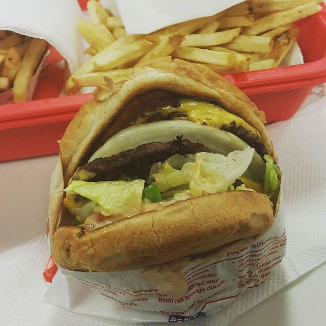 Awesome burger at #inandoutburger