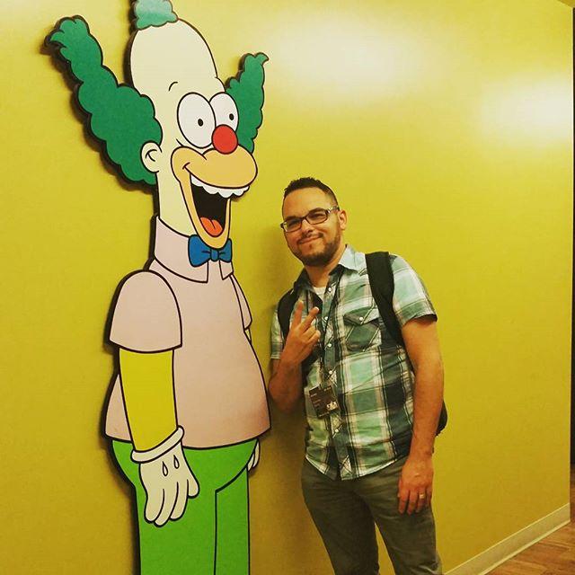 Visiting Krusty the Clown at Film Roman