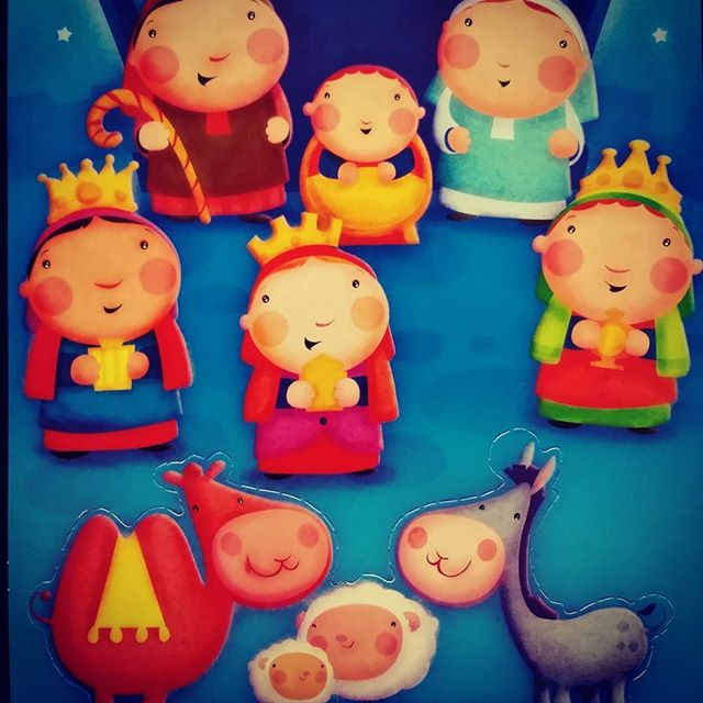 Illustration for a Nativity card i did a while back. #merrychristmas #illustration #nativityscene