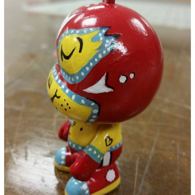 """Just got done with this custom ornament for work. Side view. """"El Luchador"""" #vinylcharacter #luchadores #characters"""