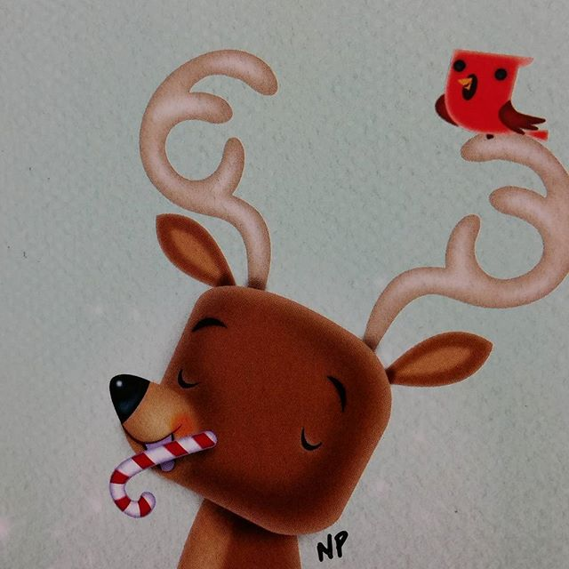 Merry Christmas! Portion of a Christmas card I illustrated.