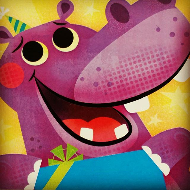 Hippo birthday! #characterdesign