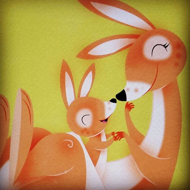 Happy Mother's Day! #illustration #characterdesign #kangaroo #mom