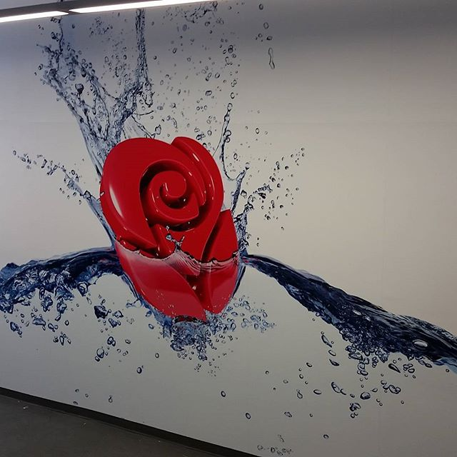 Here is another mural. Helped out in rendering the AG Rose Logo in 3D using Maya rendering with 3Delight. This was a collaboration with Photo Studio. Turned out awesome! #agcreativestudios #murals #3d #autodeskmaya #3delight