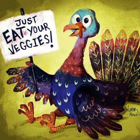 Happy Thanksgiving Everyone! #characterdesign #illustrationoftheday #illustration #thanksgiving #turkey