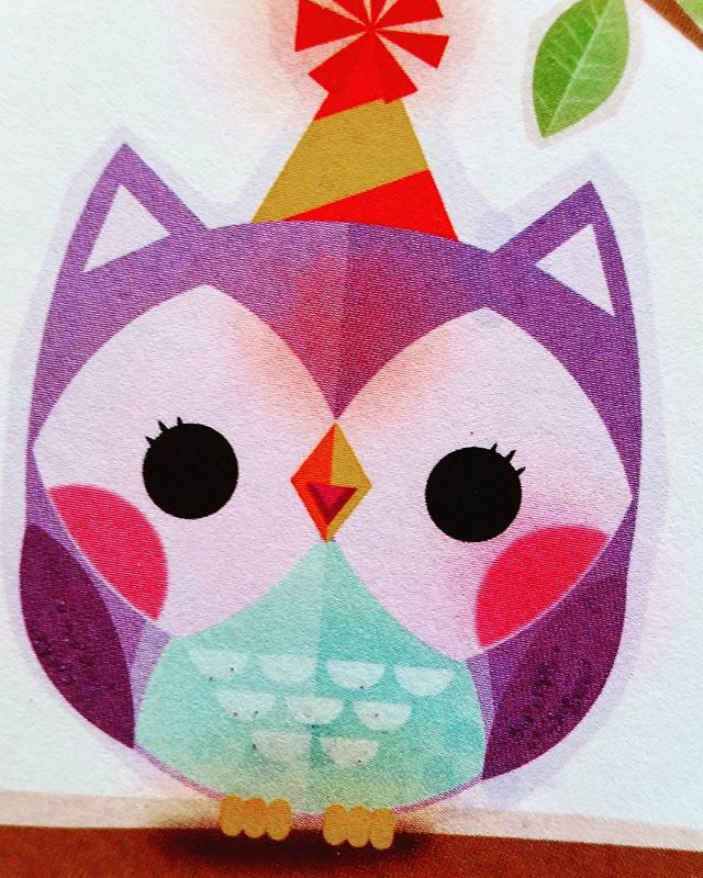Birthday owl. #illustration #characterdesign #nomarperez #childrenbooks #characters #owl #birthday