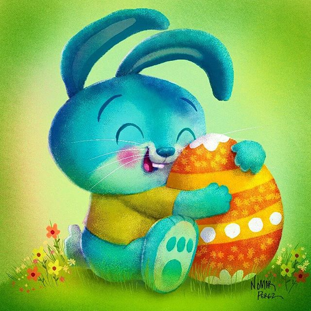 Hoppy Easter! #characterdesign #illustration #childrenbooks #characters #bunny #easterbunnies #ᴇᴀsᴛᴇʀᴇɢɢs #nomarperez
