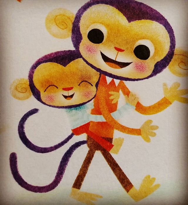 Monkey dad and son. #characterdesign #illustration #childrenbooks #characters #monkey #nomarperez