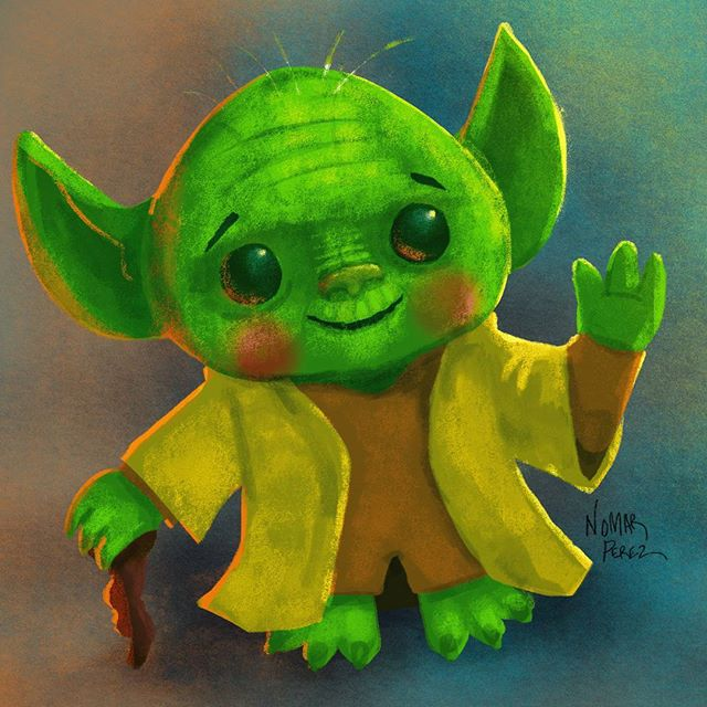 May the 4th be with you! Better late than never lol #characterdesign #illustration #starwars #starwarsfan #yoda #yodaquotes #nomarperez #starwarsmovie #disney #theforce #jedi