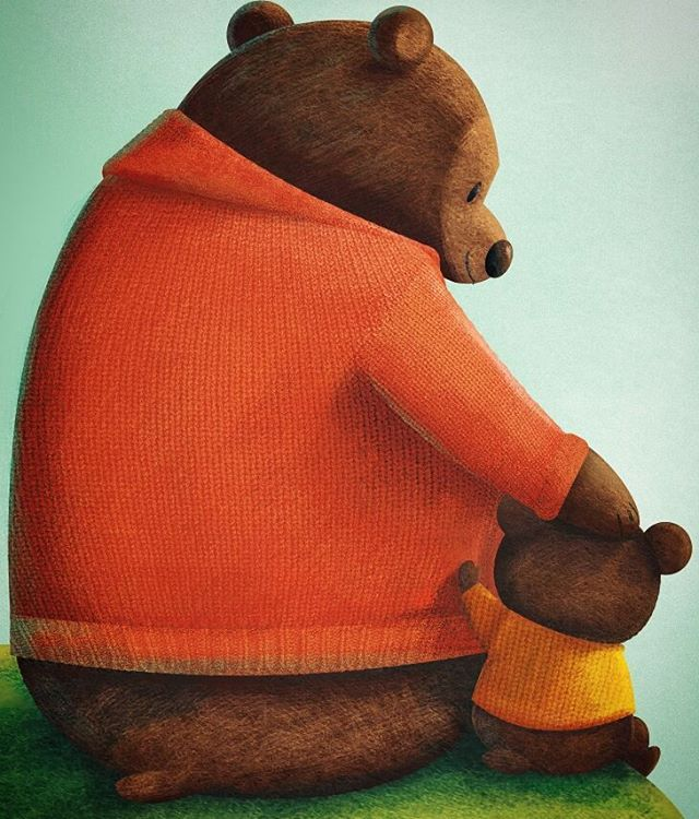 Happy Father's Day to all the dads out there! #characterdesign #illustration #bear #brownbear #nomarperez @painted.words #fathersday #greetingcards #childrenbooks