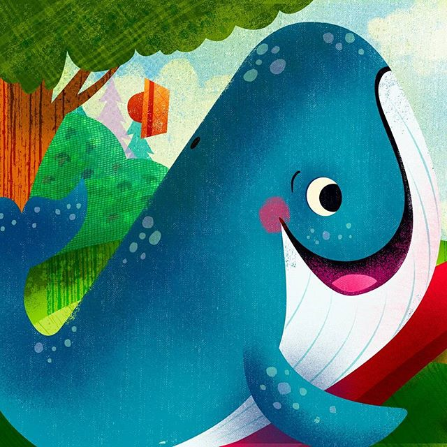 "New Board book I worked on for Group Publishing, ""Everywhere I Go, God is with Me"". It was alot of fun to work on. Go check it out and preoder your copy :) #illustration #childrenbooks #characters @painted.words #nomarperez #baby #whale #god #read #reading #love #kids #kidsbooks #parents #godlovesyou #godlovesme"