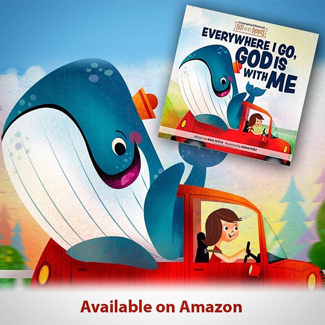 "New Board book I worked on for Group Publishing, ""Everywhere I Go God is with Me"". It was alot of fun to work on. Go check it out and preoder your copy :) #illustration #childrenbooks #characters @painted.words #nomarperez #baby #whale #god #read #reading #love #kids #kidsbooks #parents #godlovesyou #godlovesme"