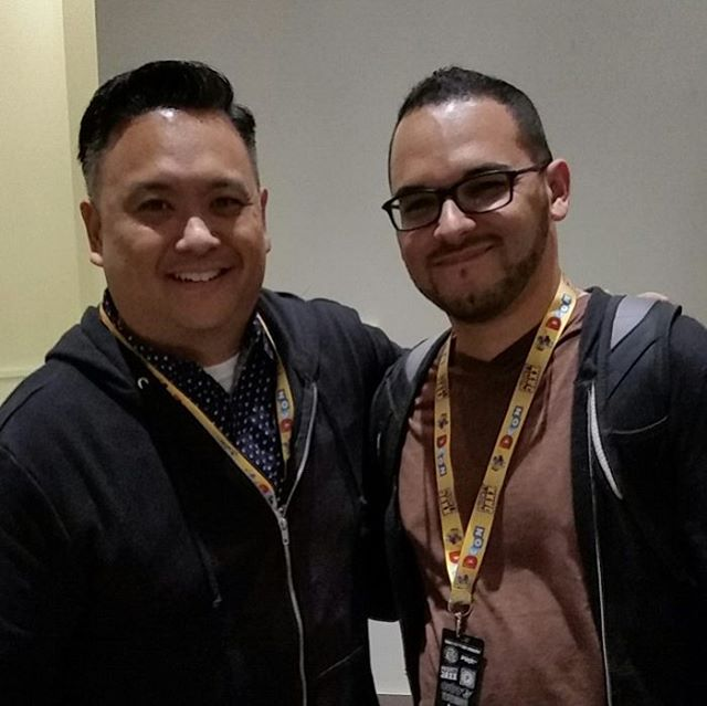 Got meet in person the talented artist Jerrod Maruyama @jmaruyama Thanks for the great chat! Keep in touch! #illustration #designercon #nomarperez #worktrip #art #pasadena