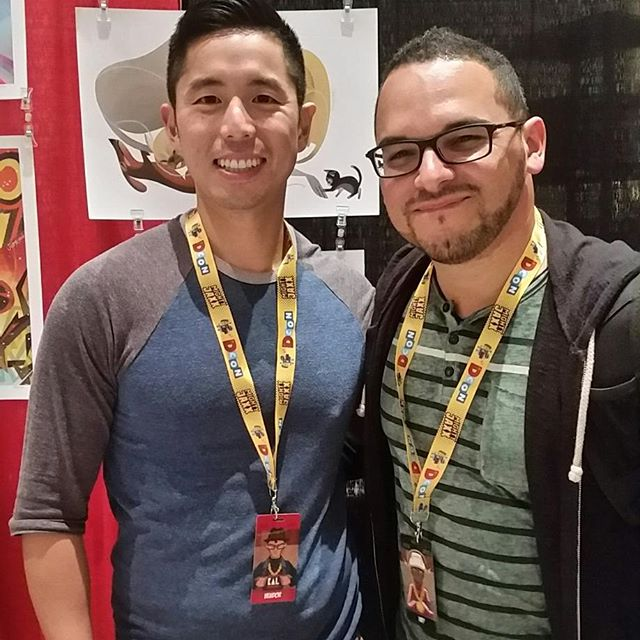 Got to visit Joey Chou at DesignerCon! Amazing person! Amazing work! Glad to see you again Joey! @choochoojoey #illustration #designercon2017 #designercon #nomarperez #worktrip #art