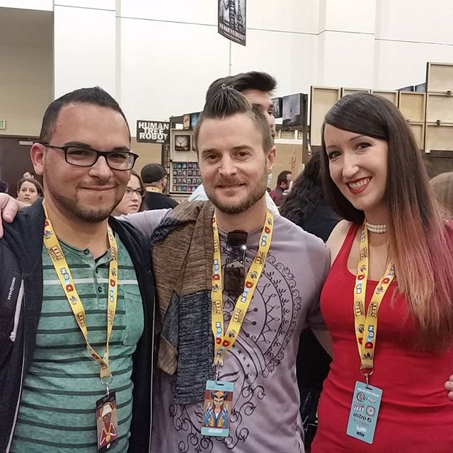 Had the pleasure to meet this Dynamic Duo of talented Disney 3D artists. It was great to meet you guys in person! @mumbojumb0 @ryantottleart #designercon2017 #disney #3d #3dartist